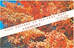 Fall Foliage Vermont Postcard