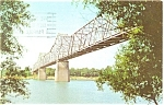 Click here to enlarge image and see more about item p3561: Audubon Bridge Across Ohio River Postcard p3561