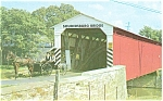 Soudersburg PA Covered Bridge Postcard p3581