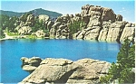 Sylvan Lake South Dakota Postcard p3591