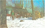 Maple Sugar Time in  Vermont  Postcard