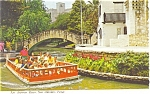 San Antonio Texas River  Postcard