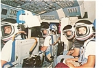 Click here to enlarge image and see more about item p3627: NASA STS-7 Crew Training  Postcard