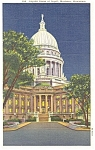 State Capitol Madison Wisconsin  Postcard