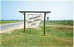 Click here to enlarge image and see more about item p3658: Arkansas Welcome Sign Postcard