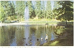 Spokane Washington Manito Pond Postcard p3663