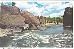 Spokane River Washington  Postcard