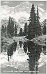 Mt Rainier Mirror Lake Washington  Postcard p3671