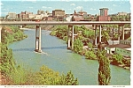 Spokane Washington Bridge  Postcard