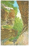 Click here to enlarge image and see more about item p3701: Frowning Cliff  Watkins Glenn NY  Postcard p3701
