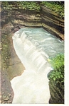 Diamond Falls, Watkins Glenn NY  Postcard