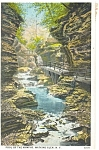 Pool of the Nymphs Watkins Glen NY  Postcard p3708
