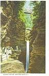 Watkins Glen NY Cavern Cascade Postcard