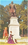 Jamestown VA  Captain Smith Monument Postcard