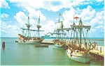 Jamestown  Virginia The Three Ships Postcard