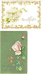 Click here to enlarge image and see more about item p3724: Best Wishes Vintage Postcard Lot 2 p3724