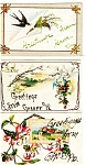 Click here to enlarge image and see more about item p3726: Greetings From Vintage Postcard Lot 5 Glitter p3726