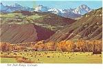 San Juan Range Colorado Postcard