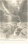 Rainbow Falls Watkins Glen NY Postcard