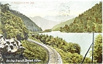 French Broad River RR Track Scene Postcard p3799