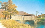 West Arlington VT Covered Bridge Postcard p3878
