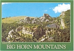 Big Horn Mountains WY Postcard p3909