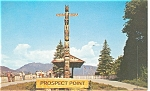 Indian Totem Pole Vancouver BC Postcard