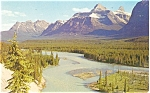 Click here to enlarge image and see more about item p3986: Athabasca Viewpoint Canada Postcard p3986
