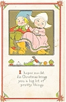 Click here to enlarge image and see more about item p4002: Dutch Children Christmas  Postcard ca 1915