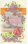 Click here to enlarge image and see more about item p4005: Valentine Postcard Best Wishes p4005