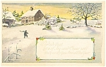 Click here to enlarge image and see more about item p4017: Boy in Snow Scene  New Years  Postcard