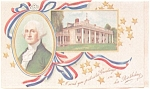 George Washington Presidents Day Postcard p4021