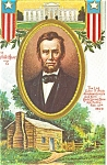 Click here to enlarge image and see more about item p4022: Abe Lincoln Presidents Day Postcard p4022