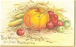 Click here to enlarge image and see more about item p4025: Clapsaddle Thanksgiving Pumpkin Postcard