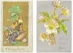 Easter  Postcard Lot 2 With Glitter p4044