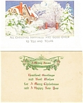 Click here to enlarge image and see more about item p4068: Christmas Postcard  Lot 2