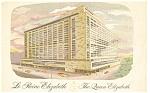 Queen Elizabeth Hotel Montreal  Linen Pcard