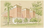 Click here to enlarge image and see more about item p4092: Los Angeles Biltmore Hotel Postcard Linen