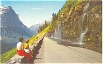 Click here to enlarge image and see more about item p4132: Weeping Wall Glacier National Park MT Pcard