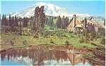 Click here to enlarge image and see more about item p4146: Mt Rainier Paradise Inn WA Postcard p4146
