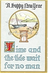 Click here to enlarge image and see more about item p4154: Happy New Year Divided Back Postcard p4154