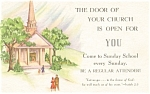 Sunday School Attendence  Postcard p4164