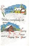 Click here to enlarge image and see more about item p4167: Christmas House to House  Postcard p4167