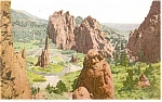 Click here to enlarge image and see more about item p4239: Garden of the Gods Colorado Postcard p4239