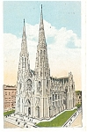 St Patrick s Cathedral New York City Postcard p4244