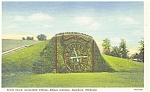 Click here to enlarge image and see more about item p4251: Floral Clock,Greenfield Village MI Postcard p4251