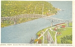 Click here to enlarge image and see more about item p4266: Blue Water International Bridge Ontario Canada Postcard p4266