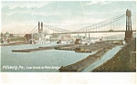 Click here to enlarge image and see more about item p4278: Pittsburg PA Point Bridge Postcard