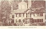 Wayside Hawthorne's Home, MA Postcard