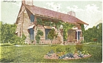 Click here to enlarge image and see more about item p4299: Log Cabin Palmer Park Detroit Postcard